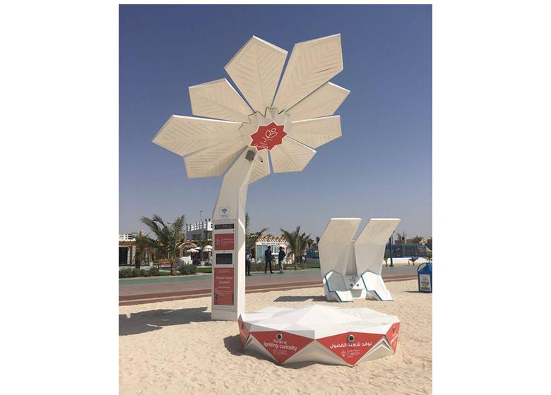 نخلهای دوبی هوشمند و خورشیدی میشوند+ عکس