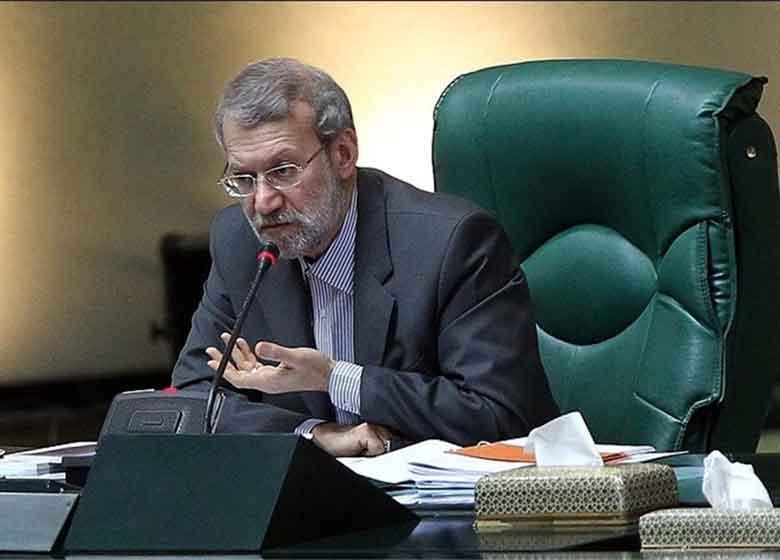 سخنرانی لاریجانی در مراسم تحلیف رئیسجمهور آغاز شد