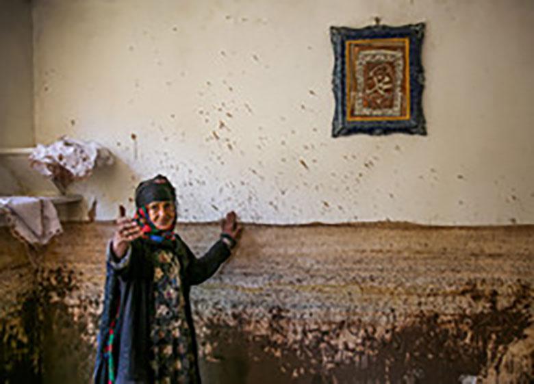 خسارات سیل در روستای ژرف