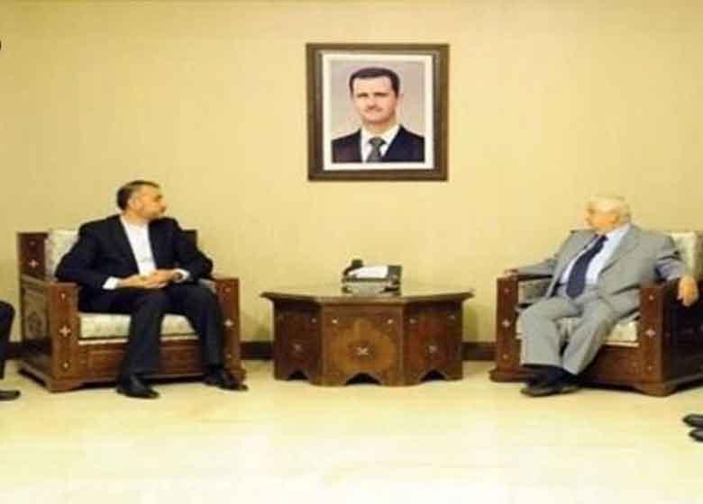 امیرعبداللهیان با وزیر خارجه سوریه دیدار کرد