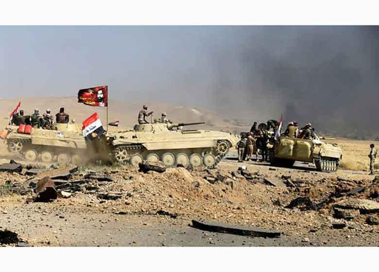 بسیج مردمی عراق حمله گسترده داعش در مرز با سوریه را ناکام گذاشت