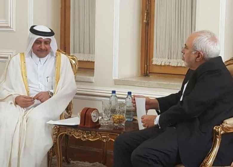 دیدار ظریف و سفیر قطر + جزئیات
