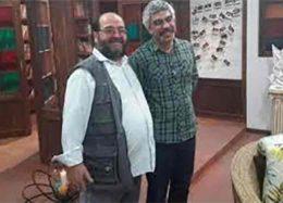 شوخی جالب آقای خبرنگار با سروش صحت/عکس