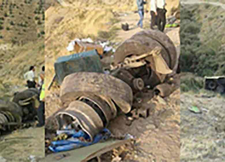علت حادثه سقوط اتوبوس تهران – آبعلی در دست بررسی است