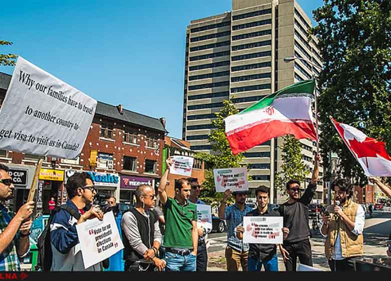 تجمع دانشجویان ایرانی به نبود روابط دیپلماتیک میان تهران ـ اوتاوا