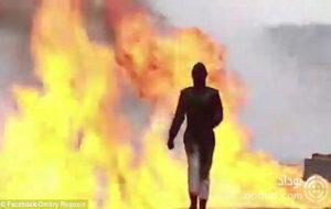 آزمایش اولین لباس ضد انفجار دنیا توسط یک زن روس + فیلم