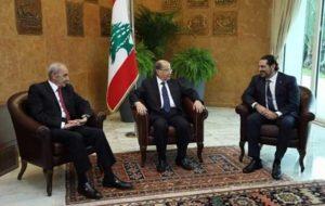 نشست سهجانبه عون، حریری و نبیه بری در بعبدا/ حریری: تمایل دارم نخست وزیر بمانم