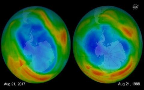 هوای گرم موجب کوچک شدن اندازه سوراخ اُزن شده است