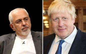 ظریف و وزیر خارجه انگلیس تلفنی گفتگو و رایزنی کردند