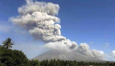 تصاویری دیدنی از فوران آتشفشان در فیلیپین