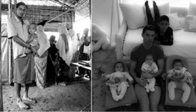 حمایت رونالدو از مسلمانان میانمار
