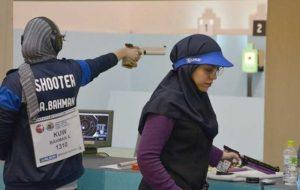 حذف سه نماینده تپانچه ۲۵ متر بانوان ایران در مسابقات جهانی
