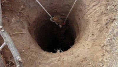 انداختن اجساد دو مرد به چاه پس از قتل با شوکر