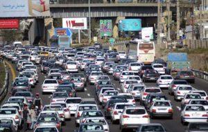 ترافیک آزاد راه کرج - تهران سنگین است
