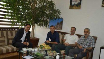دیدار مهدویکیا و کاپیتان پرسپولیس با مدیرکل ورزش تهران