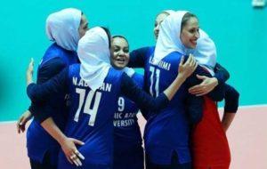 پیروزی بانوان ایران برابر قزاقستان در بازی اول