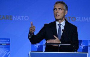 دبیر کل ناتو با وزیر خارجه روسیه درباره مسائل 2جانبه رایزنی کرد