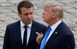 ایستادگی فرانسه در مقابل تحریم های آمریکا علیه ایران