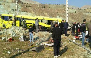8 کشته و 28 زخمی در واژگونی اتوبوس حامل دانشجویان در دانشگاه علوم و تحقیقات/ اسامی مصدومین و فوتی ها + فیلم