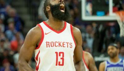 لیگ NBA،پیروزی راکتس با شاهکار هاردن