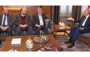 دیدار هیأتی از حماس با رئیس پارلمان لبنان
