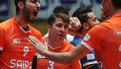 4 تیم والیبال سایپا, والیبال, لیگ برتر والیبال, امیر حسینی