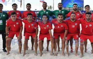 تیم ملی فوتبال ساحلی افغانستان مغلوب فلسطین شد