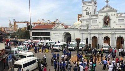 لحظاتی پس از انفجار در یکی از کلیساهای سریلانکا
