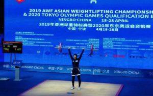 وزنه برداری زنان آسیا،زارع هشتم شد
