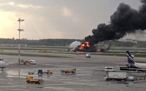 آتشسوزی در هواپیمای روسی