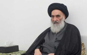 ادعای العربی الجدید: پیام آیتالله سیستانی به رهبران عراق در رابطه با تنش واشنگتن-تهران