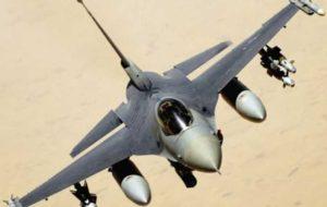 سقوط یک فروند جنگنده اف- ۱۶ در کالیفرنیای آمریکا