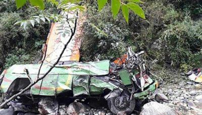 سقوط اتوبوس در هند ۴۴ کشته برجای گذاشت