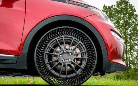رونمایی از تایرهای بدون هوا برای خودروهای معمولی