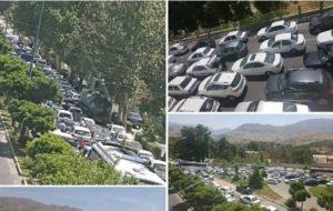 ترافیک سنگین در راههای البرز تا شب ادامه دارد
