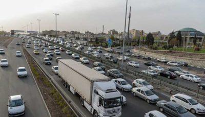 6 55 پلیس راهور ناجا, ترافیک نیمه سنگین, آزادراه کرج - قزوین
