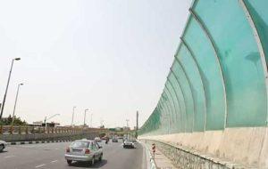 سرقت دیوار صوتی در بزرگراه آزادگان تهران