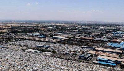 تصاویر هوایی از پارکینگ شرکت ایران خودرو