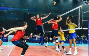 صعود سخت آمریکا به فینال لیگ ملتهای والیبال با شکست برزیل