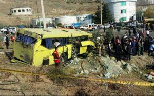 66 25 حادثه واژگونی اتوبوس, حادثه دانشگاه آزاد
