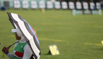 حضور زهرا نعمتی در مسابقات آزمایشی المپیک