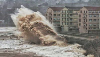 طوفان سهمگین «لکیما» چین را درنوردید