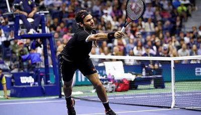 پیروزی فدرر در روز حذف شارپووا در تنیس اپن آمریکا راجر فدرر