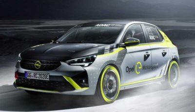 اوپل کورسا e، اولین خودروی الکتریکی رالی