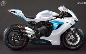 موتورسیکلت تکنمونه F3 800 ام وی آگوستا بهنفع یونیسف حراج شد