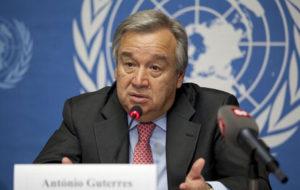 بیانیه گوترش به مناسبت روز جهانی مبارزه با آزمایش هستهای
