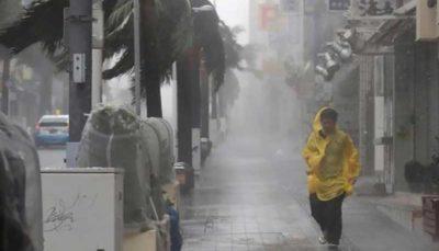 ۳۰ مصدوم بر اثر طوفان «تاپاه» در ژاپن