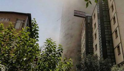 54 7 آتشنشانی تهران, آتش سوزی در برج