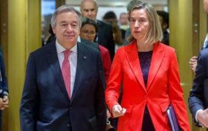 اتحادیه اروپا: رایزنی برجامی موگرینی و گوترش