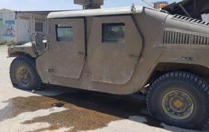 خودرو نظامی اسراییلی هدف حمله پهپادی از غزه قرار گرفت